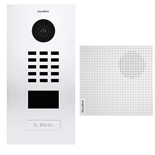 Doorbird D2101V Video-Türsprechanlage, 1 Klingel + Türklingel, Weiß