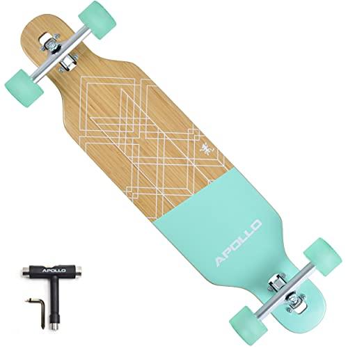 APOLLO Drop Through Longboard Skateboard - Longboard for Girls - Longboard for Women - Longboard for Beginners and Pros - Cruiser Board Skateboard...