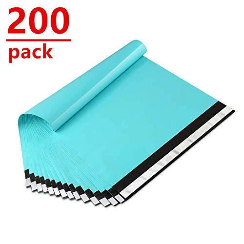 UCGOU 10x13 Inch 200-Pack Teal Poly Mailers Premium Shipping Envelopes Mailers Bags Self Sealed Business Shipping Mailer Bags with Self Adhesive Strip Waterproof and Tear-Proof Postal Bags