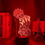 Fairy Tail Figurine animée à LED pour décoration de la maison, cadeau d'anniversaire Manga 3D Lampe de nuit Natsu Dragneel Fairy Tail
