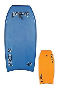 GYN Trade Heat Sealed Legendary Pro X Bodyboard Hard Slick Printed  Dark Blue/Orange 37