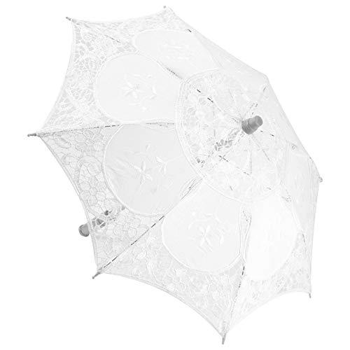 Atyhao Mini Paraguas de Encaje para Boda, sombrilla de Novia, Paraguas para niña, decoración de Fiesta, Baile, fotografía, Regalo de Boda, Accesorios para Fotos, Regalo para niños(1#)