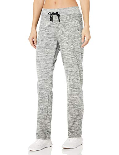 Hanes Women's French Terry Pant, Black Space Dye, Large