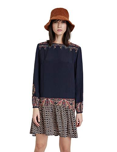 Desigual Damen Vest_praga Casual Dress, Schwarz, S EU