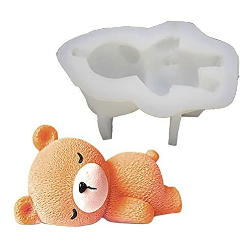 3D Bear Silicona Moldes Resina Arcilla Moldes Pudín Chocolate Cake Molds Herramientas para Hornear