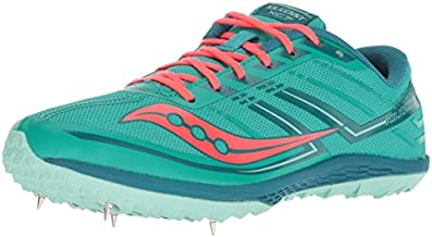 Saucony Women's Kilkenny XC7 Track Shoe, Teal/red, 10 M US