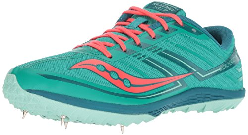 Saucony Women's Kilkenny XC7 Track Shoe, Teal/red, 9 M US