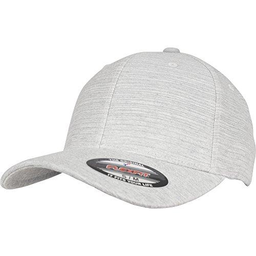 Flexfit Ivory Melange Cap, Base Cap die sich dem Kopffumfang anpasst, ohne Kunststoff-Verschluss, in den Größen L/XL