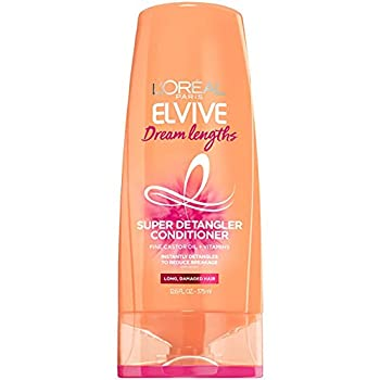 L Oreal Paris Elvive Dream Lengths Super Detangling Conditioner with Fine Castor Oil and Vitamins B3 and B5 for Long Damaged Hair Instantly Detangles to Reduce Breakage With System 12.6 Fl Oz