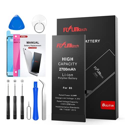 Batería para iPhone 6s 2700mAH con 58% más de Capacidad Que la batería Origina, FLYLINKTECH Reemplazo de Alta Capacidad Batería para iPhone 6s con Kits de Herramientas de reparación, Cinta Adhesiva