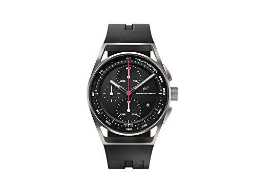 Porsche design 1919 chronotimer Herren Uhr analog Automatik mit Kautschuk Armband 6020.1.01.003.06.2