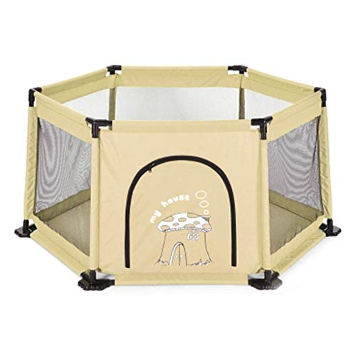 ZTMN Aire de Jeux pour Enfants Indoor Home Baby Infant Fence Safety Toddler Anti-Fall Playground (Couleur: Beige)