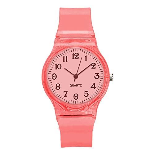 Relojes Para Mujer Crystal Watch Dibujos animados novedad transparente silicona correa clásica reloj electrónico para estudiante mujer reloj de pulsera Relojes Decorativos Casuales Para Niñas Damas