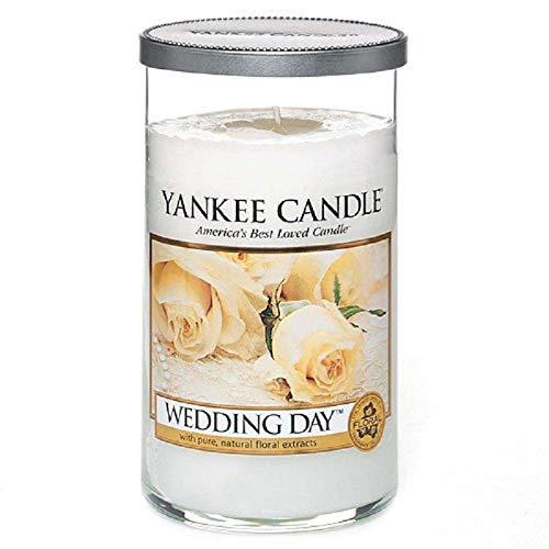 """Yankee Candle """"Wedding Day"""" Stumpenkerze, weiß, mittel"""