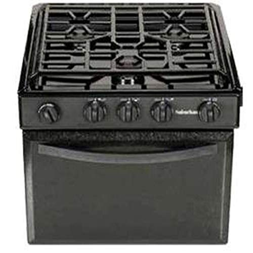 Suburban 3206A Gas Range with Conventional Burners - Black w/Piezo Ignition, 17'