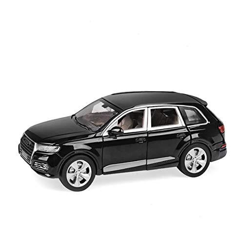 DXZJ Simulación De Escala 1/24 para Audi Q7, Modelo De Aleación De Fundición A Presión, Luz De Sonido, Juguetes De Coche para Niños, Regalo De Cumpleaños (Color : Black, Size : A)