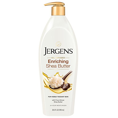 Jergens Shea Butter Deep Conditioning Moisturizing Body Lotion, 26.5 Ounces, 3X More Radiant Skin, with Pure Shea Butter, Dermatologist Tested