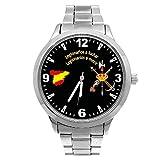 Reloj Legión G&B Cadena Acero Esfera Negra