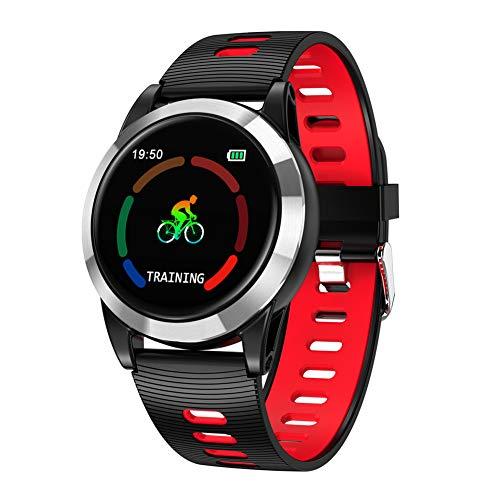 LIRUI057 Fitnessarmband met bloeddrukmeting metalen armband, IP67 waterdicht fitnesshorloge met hartslagmeter, stappenteller, slaapmonitor, activiteitentracker, compatibel met Android iOS