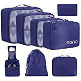 Eono by Amazon - 8 Pcs Packing Cubes for Suitcase Lightweight Luggage Packing