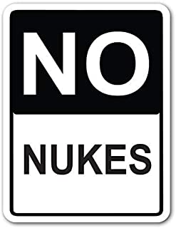 Voicpobo No Nukes Street Sign Metal Funny Warning Sign for Property Notice Sign Plaque for Home Decor 8x12