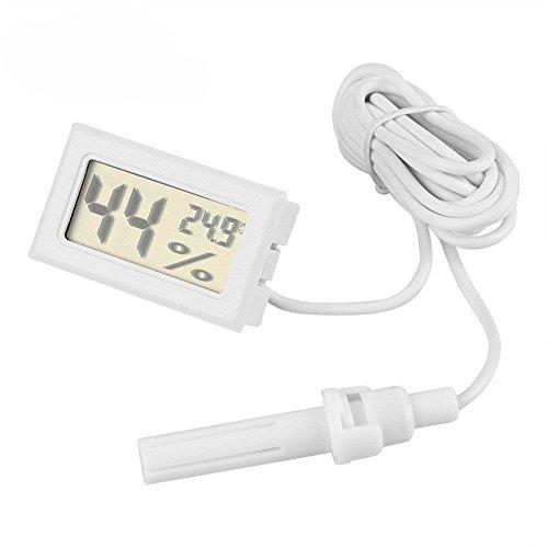 Fdit - Set di 2 termometri digitali con monitor LCD, per misurazione di temperatura e umidità, con sonda esterna, per casa, auto, ufficio