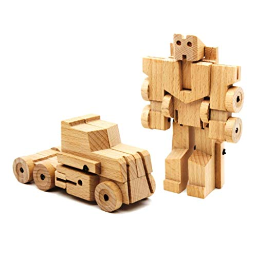 Bamloff WooBot - Wooden Robot Transforms into a Truck