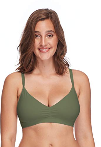 Body Glove Women's Smoothies Drew Solid D, DD, E, F Cup Bikini Top Swimsuit, Cactus