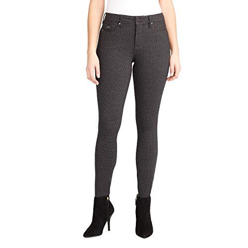 NINE WEST Women's Gramercy Skinny Jean, Culzeah Houndstooth Plaid, 14 (Nice Tops To Wear With Skinny Jeans)