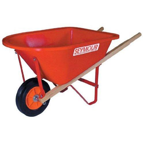 SEYMOUR OF SYCAMORE WB-JRD Poly Tray Lightweight Children's Size Wheelbarrow