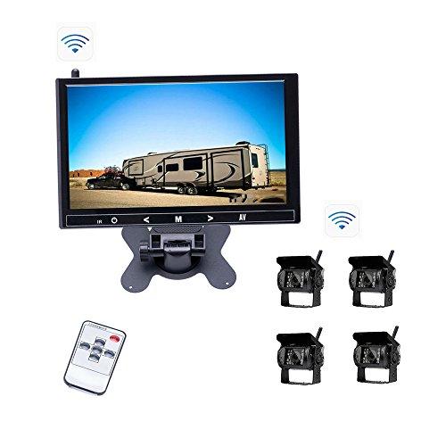 Camecho Sistema de respaldo de vehículos 9 pulgadas HD Monitor y 4...