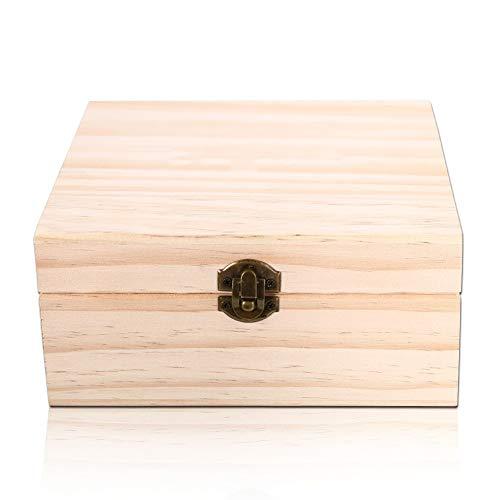 Yiwa Box voor etherische olie van hout met 25 munten, voor 25 houten kisten, 5-15 ml, voor reizen of als cadeau