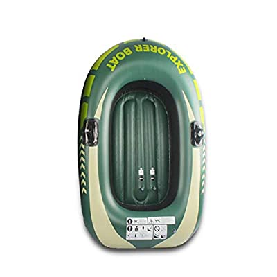 N/P Inflatable Boat Kayak,New Thickened Inflatable Portable Boat Set, Inflatable 1/2 Person Boat PVC Kayak