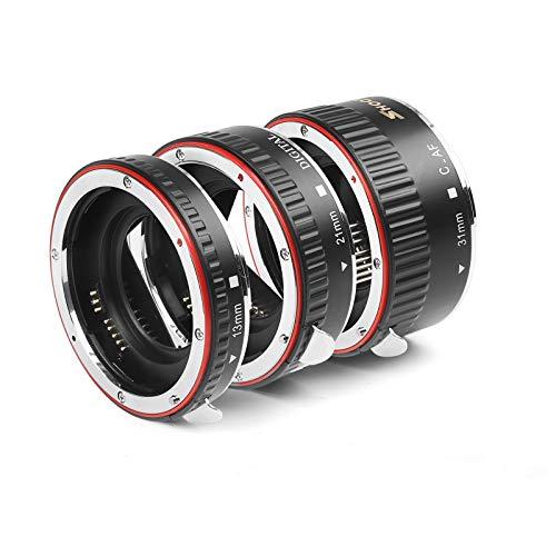 SHOOT AF Auto Focus Macro Extension Tube Set for Canon EOS EF EF-S Lens DSLR Cameras 1100D 700D 650D 600D 550D 500D 450D 400D 350D 300D 100D 70D Close-up(13mm 21mm 31mm)