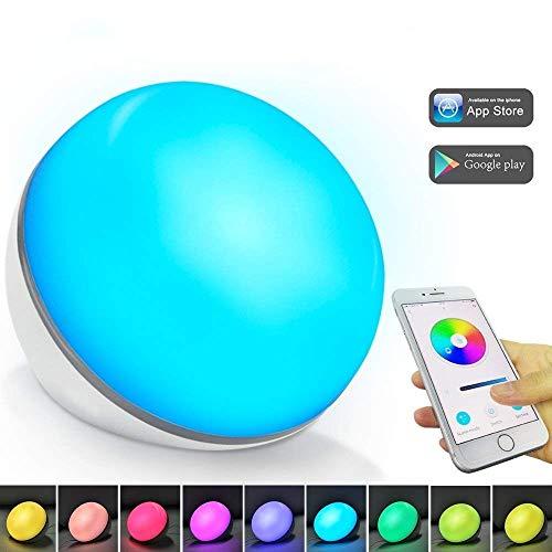 Lámpara de mesa inteligente - bajo control de Voz por WiFi o cellular inteligente, compatible con Amazon Alexa o Google Home Alimentado por USB Sin adaptador【Actualizado con tuya smart】(1)