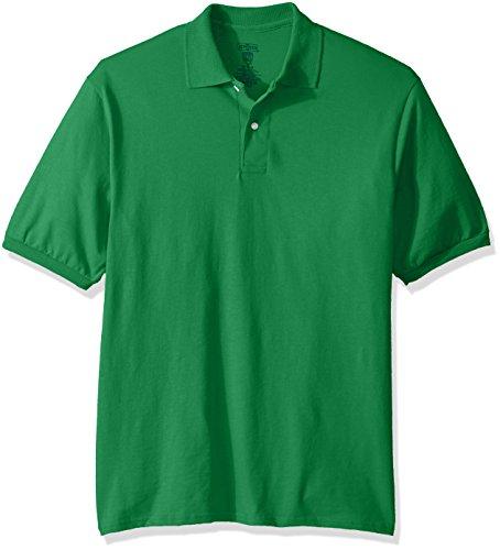 Jerzees Men's Spot Shield Short Sleeve Polo Sport Shirt, Kelly, Large