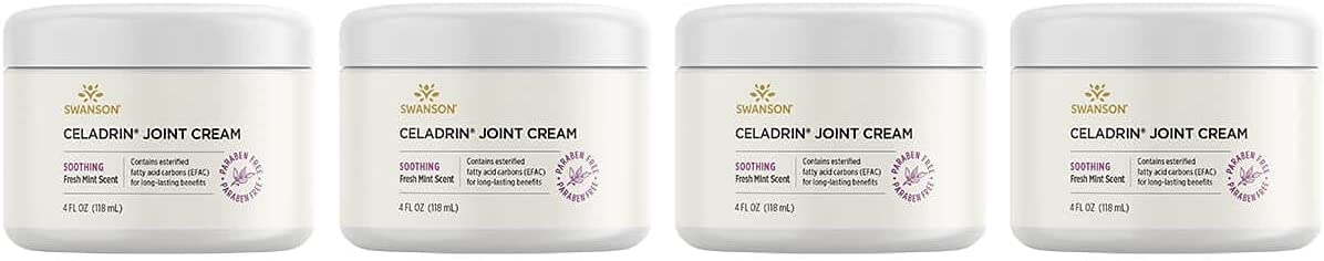 Swanson Ranking TOP6 Celadrin Joint Cream 4 118 ml fl Ounce Outstanding Pack