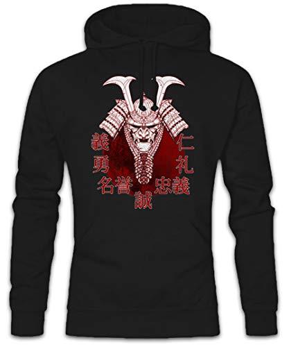Urban Backwoods Bushido Samurai II Hoodie Kapuzenpullover Sweatshirt Schwarz Größe M