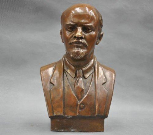 Liangliang988 Estatua soviética de vladímir Ilyich Ulyanov Lenin Busto de Bronce