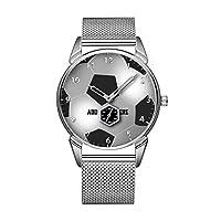 ファッション防水時計ミニマリストパーソナリティパターンウォッチ -236. カスタマイズ可能なサッカーボール