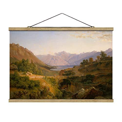Bilderwelten Kakemono Poster - Louis Gurlitt - The Bay of Cattaro 23.5x35cm Chêne