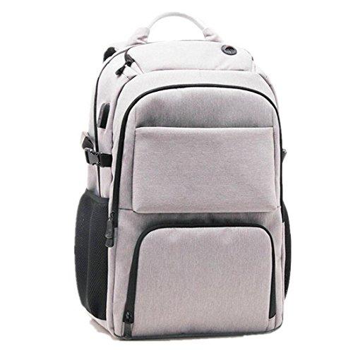 WYXIN Sac à bandoulière imperméable à l'eau de sac à dos d'Oxford d'USB de sac à dos d'ordinateur portable de 14 pouces , gray