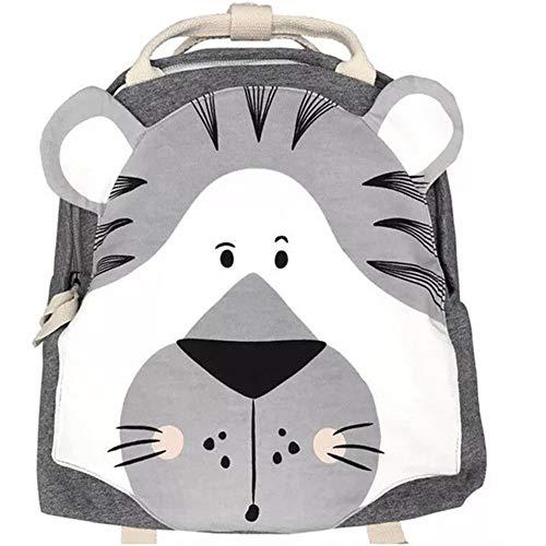 WWHSS -Children Backpack Animals Design Girl Boys Backpack Toddler Kids School Bag Kindergarten Cartoon Rabbit Butterfly lion print Bag Bags (Color : Tiger, Size : XL)