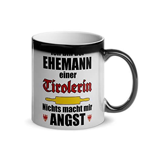 Ehemann einer Tirolerin (Österreich)   Magische Wärmetasse   Lustiger Tiroler Spruch   Kaffeetasse   Tirol Österreich