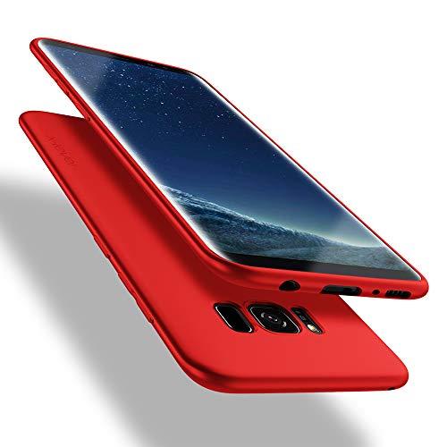 X-level Samsung Galaxy S8 Hülle, [Guardian Serie] Soft Flex TPU Hülle Superdünn Handyhülle Silikon Bumper Cover Schutz Tasche Schale Schutzhülle für Samsung Galaxy S8 - Rot