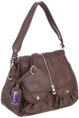 Mexx Damen Casual 2wayshoulder Bag Umhängetaschen, Braun/DRK Brown, 30x22x13 cm