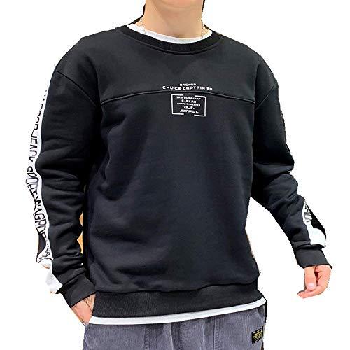 nobrand Herren-Pullover, langärmelig, mit Rundhalsausschnitt Gr. XXXL, Schwarz