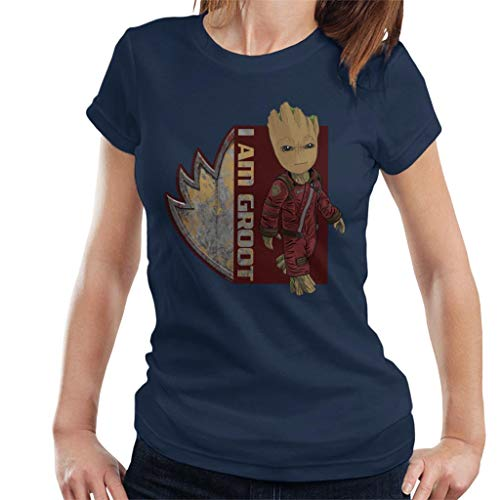 Marvel Guardians of The Galaxy I Am Ravagers Baby Groot Women's T-Shirt