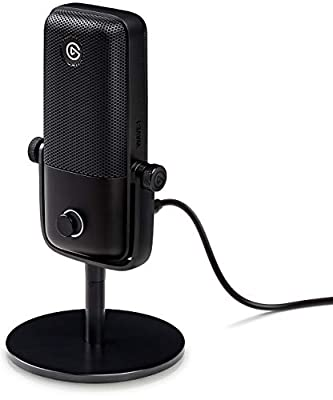Elgato Wave:1, Premium USB Condenser Microphone and Digital Mixing Solution, Anti-Clipping Technology, Tactile Mute, Streaming and Podcasting , 10MAA9901