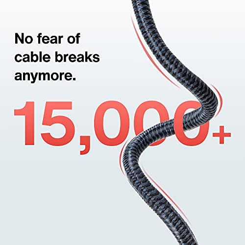 DisplayPort Kabel, 2M/4K, DisplayPort auf DisplayPort Kabel (4K@60Hz und 2K@144Hz), DP Kabel geeignet für Monitor,Gaming-Grafikkarte – 2M/ Grau (Verschlussfrei & aus Nylongeflecht) - 5